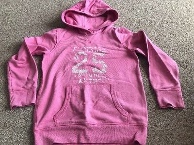 Girls NEXT Pink Hooded Sweatshirt  - Age 9 Yrs