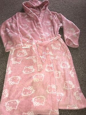 Girls M&S Pink Hello Kitty Dressing Gown - Age 11-12Yrs