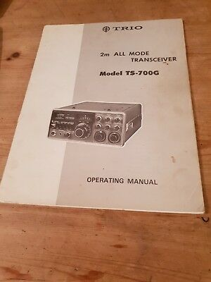 TRIO 2m ALL MODE TRANSCEIVER  Model TS-700G OPERATING MANUAL