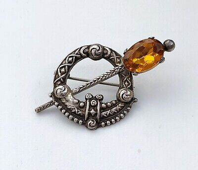 Ward Brother's Sterling Silver And Amber Brooch Mothers Day Gift