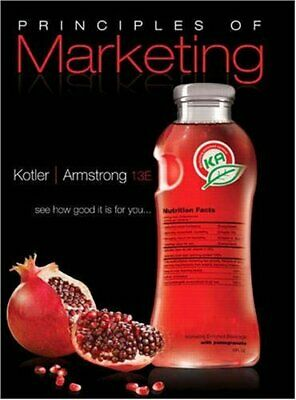 Principles of Marketing by Kotler, Philip -ExLibrary