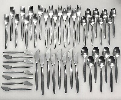 vintage 48p GENSE FOCUS Stainless FLATWARE Sweden Mid Century Modern DANISH for8