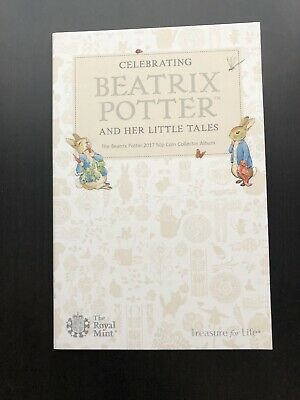 Complete Royal Mint Beatrix Potter 2017 50p Coin Collector Album New