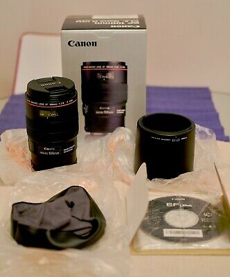 Canon EF 100mm f/2.8L Macro lens IS MINT CONDITION
