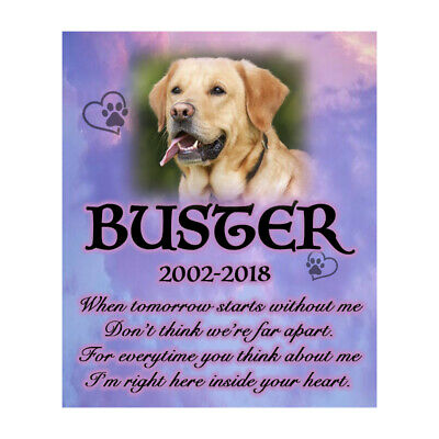 Pet Memorial Personalised Photo Dog Poem Plaque Bereavement Sympathy Poem Sign