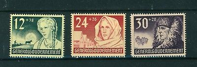 Germany WWII Occupation in Poland 1940 Anniv. of Government set of stamps. Mint.