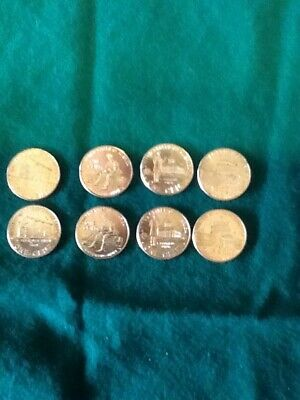 2009 P & D SET of 8 Lincoln 1 Cent BICENTENNIAL Memorial Cents in plastic covers