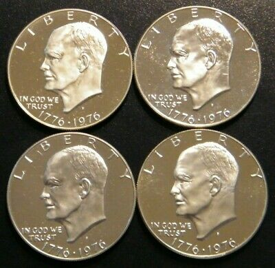 1976 S Eisenhower Ike Proof Dollar 40% Silver Bicentennial US Coin MINOR ISSUES