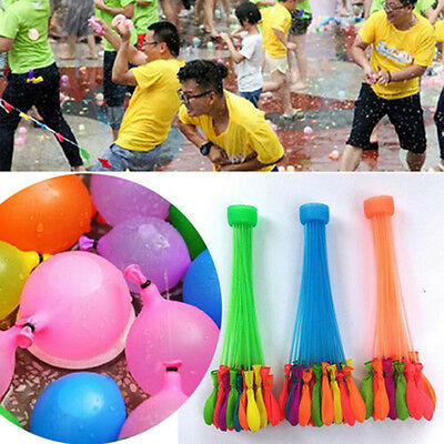 111 pcs Magic Tied Water Balloons Bombs Kids Garden Party Toys for Summer
