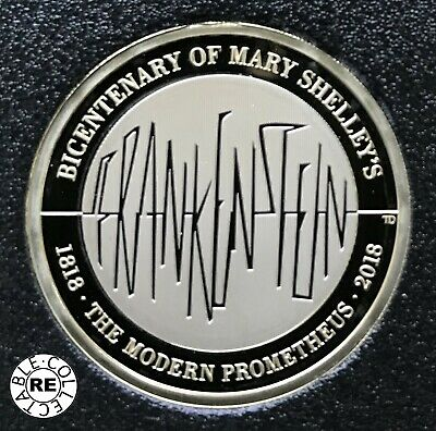 2018 Proof £2 Coin two pounds Mary Shelley's Frankenstein