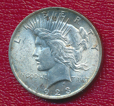 1923 Peace Silver Dollar **brilliant Uncirculated** Free Shipping!