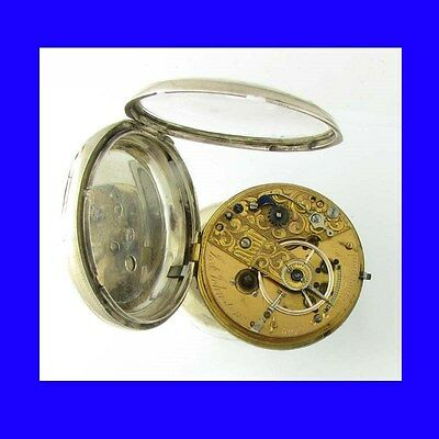 Stunning Silver Liverpool 17 Jewelled Fusee Massey 3 Pocket Watch 1827