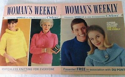 Original Vintage 1965 Knitting Pattern Booklet Woman's Weekly 'coats Spinelle' .