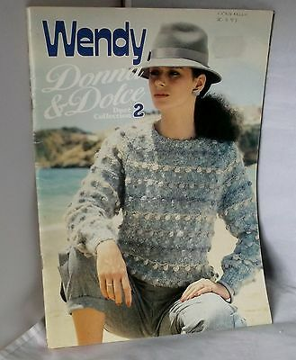 WENDY KNITTING PATTERN 'DONNA & DOLCE' DUET COLLECTION 2 1986 (sweaters/clothes)