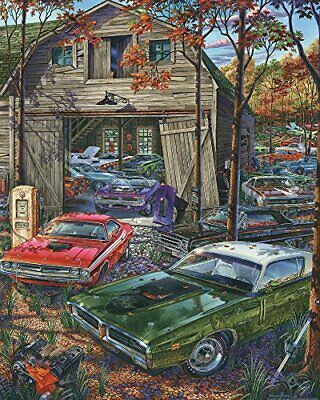 Vermont Christmas Company Cars on The Farm Jigsaw Puzzle 1000 Piece