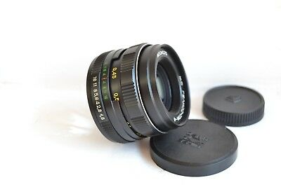 NEW! MC Helios 77M-4 1.8/50 Russian lens M42 S/N 91000670, with 2 caps!