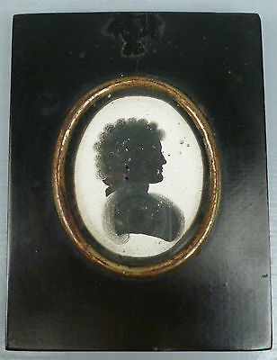 Antique English Silhouette Portrait on Plaster likely John Miers - Georgian VR