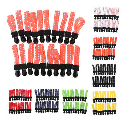 20pcs Metal Zipper Slider with Grip Cord DIY Zip Puller Head Replacement Kit
