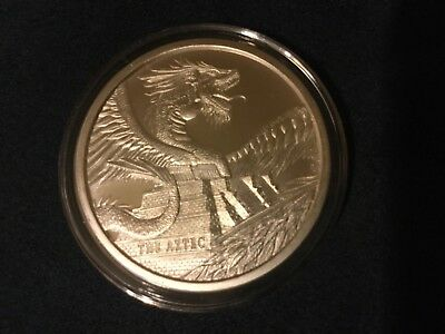 One oz silver .999 The Aztec World of Dragons Quetzalcoatl ,first of six