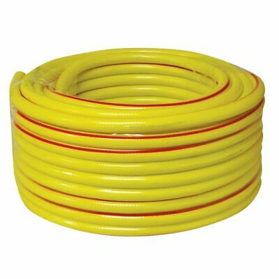 New 30 Metre Yellow Garden Hose Pipe 30M Reinforced Anti Kink Water Hosepipe
