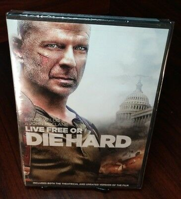 LIVE FREE or DIE HARD(2007) Bruce Willis Timothy Olyphant Maggie Q-NEW-Free S&H