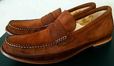 98705471 LOAKE MENS BROWN Suede Loafers ( Over sized ) - £50.00 | PicClick UK