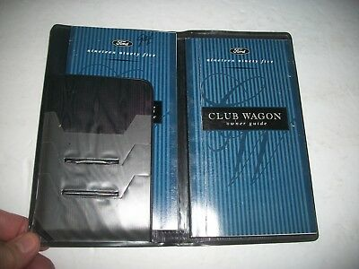 1995 Ford Club Wagon (Econoline) Owner Manual Guide