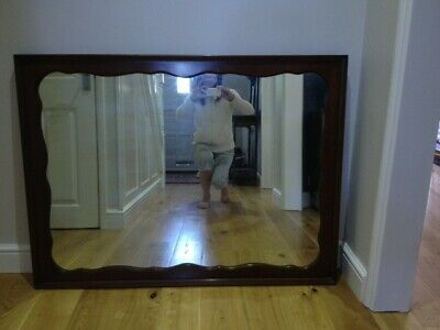 Mid-Century Oak Mirror