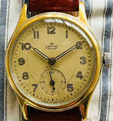 SMITHS Deluxe A404 Everest 15Jewels Hand Winding Vintage Watch 1954's Overhauled