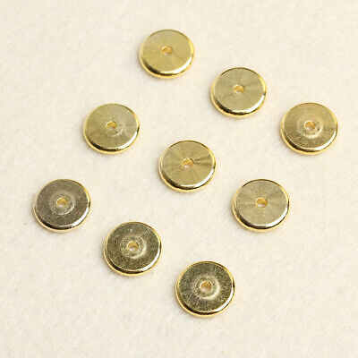 10PCS 12mm Hi-Q Gold Plated Loose Metal Round Spacer Beads Finding Craft Jewelry