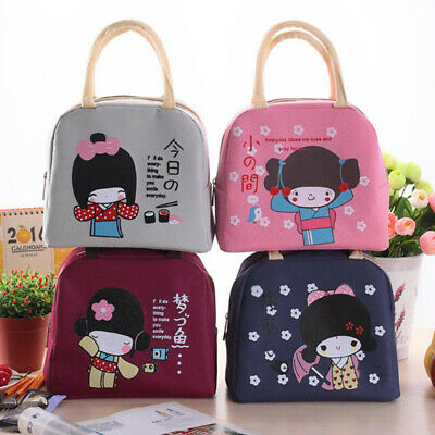 Portable Insulated Canvas Lunch Bag Thermal Food Picnic Cooler Lunch Box Tote ##