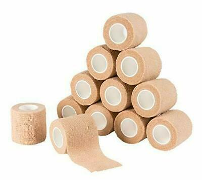 """24 Pack 2"""" Self Adhesive Cohesive Bandage Stretch Wrap First Aid Elastic Tape"""