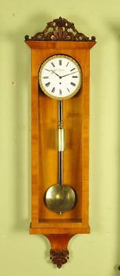 SATINWOOD VIENNA REGULATOR WALL CLOCK -Joseph Petrovits , Wein