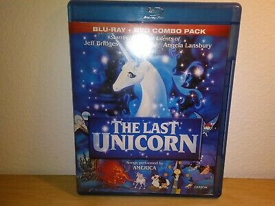 The Last Unicorn (Blu-ray/DVD, 2011, 2-Disc) 1982 ANIMATED FANTASY WITH RED BULL