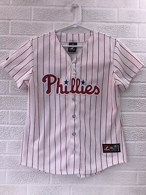 Fan Apparel & Souvenirs Hearty New Majestic Cool Base Philadelphia Phillies Chase Utley Baseball Jersey Mens Xl