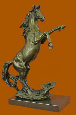 Bronze Sculpture Art Deco Classic Rearing Horse Artwork Hot Cast Figurine Figure