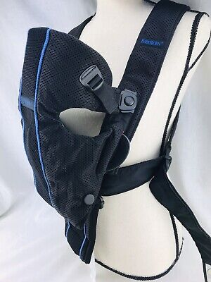 "Baby Bjorn Infant Carrier 8-25lbs 21-26"" Front Back Black Breathable Wide Strap"