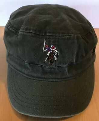 e2bcd9f20d85b US Polo Assn Logo Embroidered Military Cadet Hat Cap fitted Green S M Small  Med