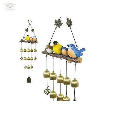 Monsiter Wind Chimes Con Decoración De Pájaros Jardín Al Aire Libre Y Decoració