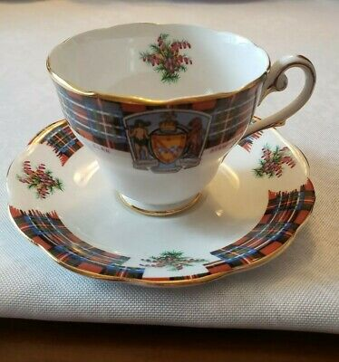 Royal Standard Clan Stewart Cup And Saucer Bonnie Scotland