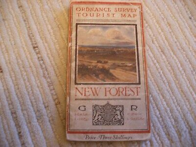 """1920 Ordnance Survey Tourist Map New Forest. Scale 1"""" To 1 Mile."""