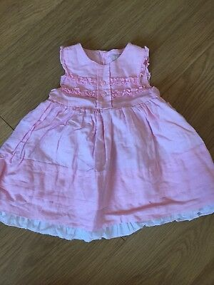 Baby Girl Pink Linen Party Dress 9-12 Months *adorable!* Baby Luxuries