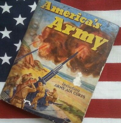 Vintage 1942 WWII Era America's Army 70 Page Book Rand McNally & Company GUC