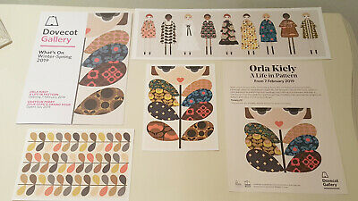 """""""A LIFE IN PATTERN"""" Orla Kiely 3 POSTCARDS - EXHIBITION BUNDLE"""