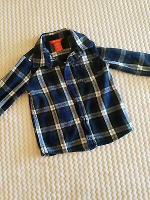 1f941c8e7 Toddler boys long sleeved flannel button down, 4T, blue, green, Joe Fresh
