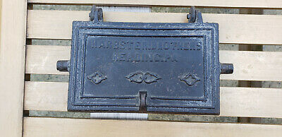 Antique Harbster Brothers Reading PA Cast Waffle Iron Heart Star HTF Rare Vtg US