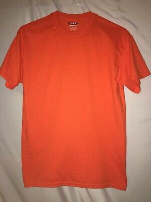 Gildan Mens DryBlend 50/50 Cotton/Polyester Plain T-Shirt Short Sleeve M Orange