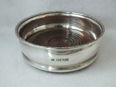 Sterling Silver Bottle Coaster/ Stand 1969/ Dia 9.7 cm