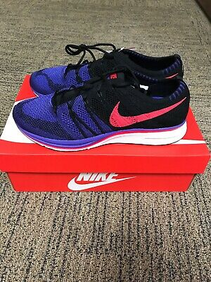 7790f2fa7aaac Ah8396 003 Nike Flyknit Trainer Black Siren Red Persian Violet Running 9.5  Mens