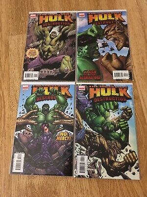 The Incredible Hulk Destruction 1 2 3 4 Comic Book Set Marvel 2005 Comics